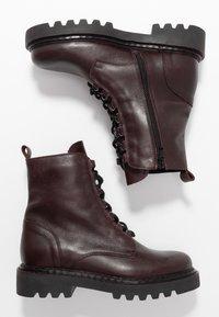 Zign - Platform ankle boots - bordeaux - 3