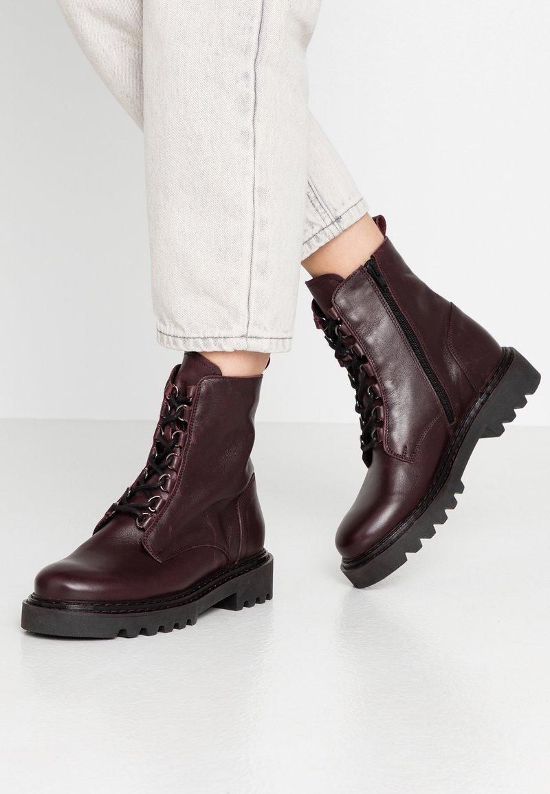 Zign - Platform ankle boots - bordeaux
