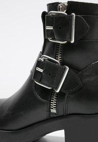 Zign - Cowboy- / bikerstøvlette - black - 6