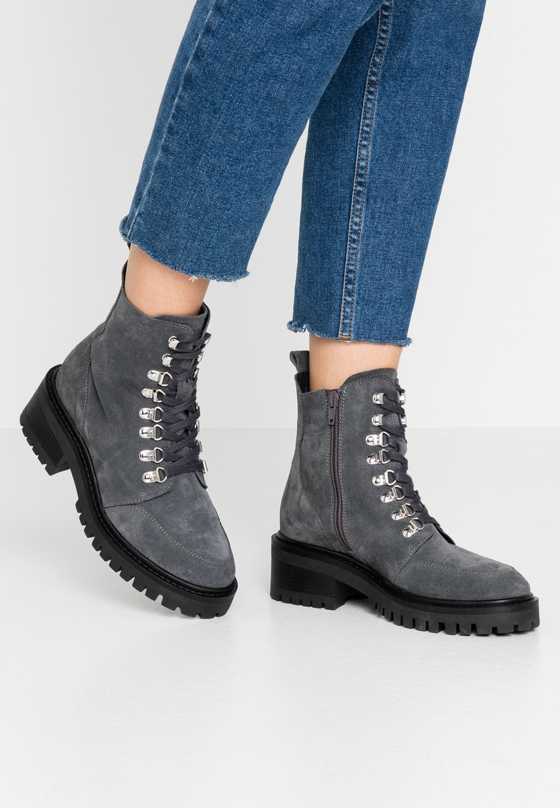 Zign - Lace-up ankle boots - grey