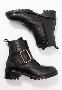 Zign - Botines con cordones - black - 3