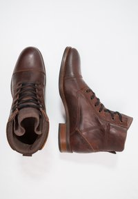 Zign - Lace-up ankle boots - cognac - 1
