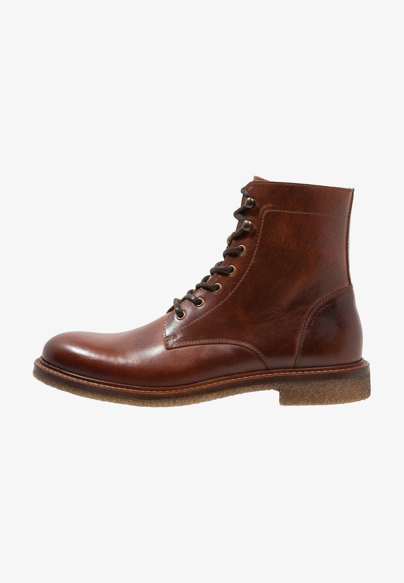 Zign - Lace-up ankle boots - cognac