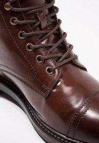 Zign - Lace-up ankle boots - cognac - 5