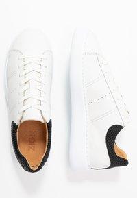 Zign - Matalavartiset tennarit - white/black - 1