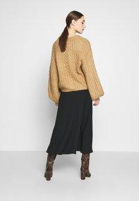 Zign - BIAS CUT SKIRT  - A-line skirt - black - 2