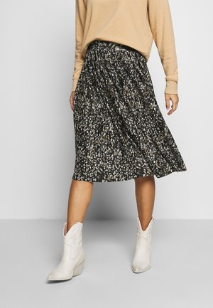 PRINTED PLISSE MIDI SKIRT - A-lijn rok - green black