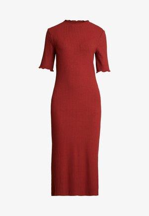 JERSEYKLEID BASIC - Pouzdrové šaty - dark red