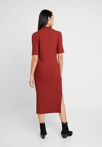 Zign - JERSEYKLEID BASIC - Shift dress - dark red - 2