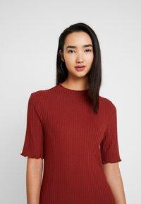 Zign - JERSEYKLEID BASIC - Shift dress - dark red - 5