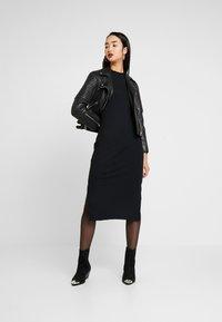 Zign - JERSEYKLEID BASIC - Shift dress - black - 1