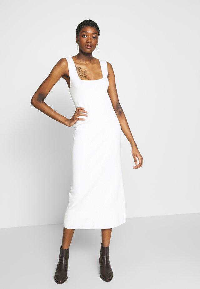 Gebreide jurk - white