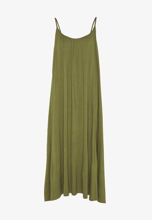 BASIC - MAXI DRESS - Jersey dress - olive night