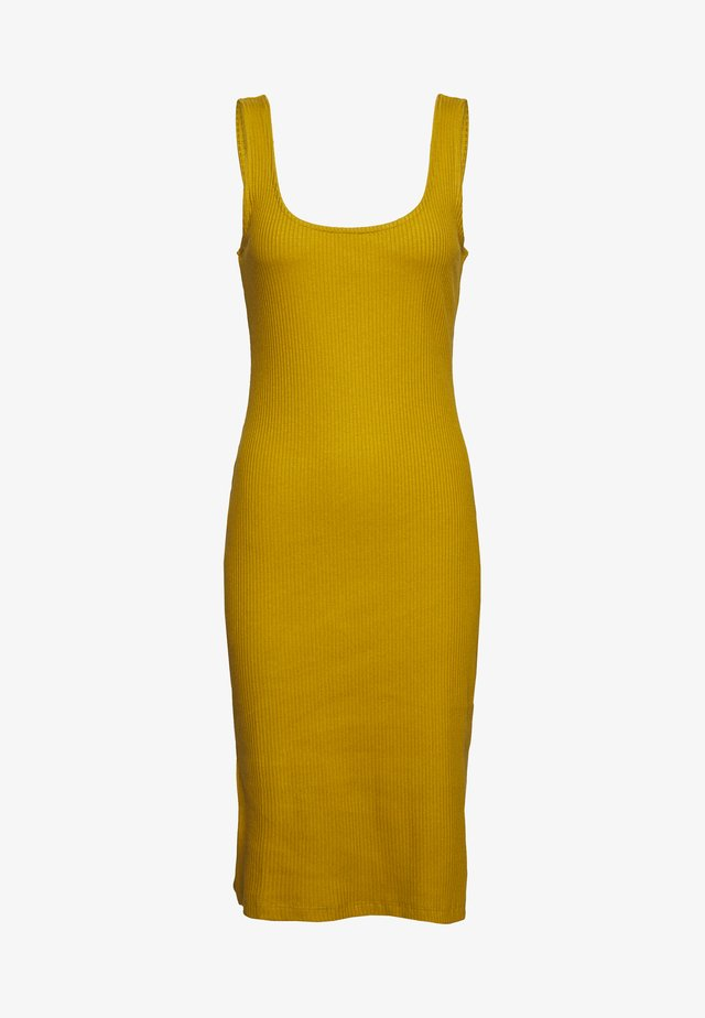 TANK BODYCON MIDI DRESS - Jerseyklänning - ecru olive