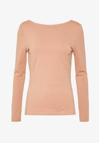 Zign - LONG SLEEVE WITH SCOOP BACK - Long sleeved top - camel - 4