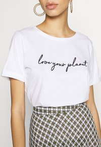 Zign - T-shirt con stampa - white - 5