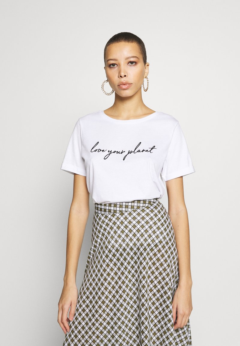 Zign - T-shirt con stampa - white
