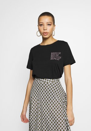 REDUCE PRINTED TEE - Print T-shirt - black