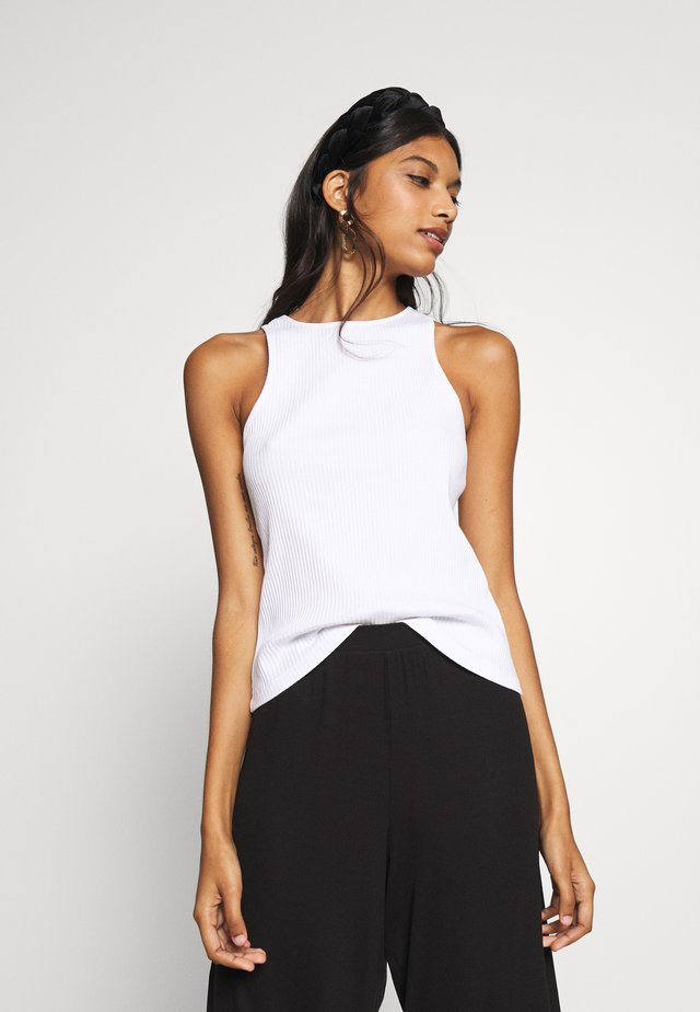 RACER NECK - Top - white
