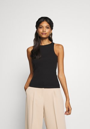 RACER NECK - Top - black