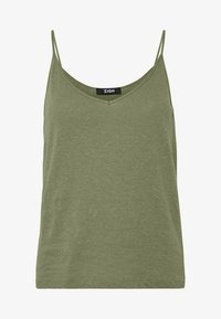 Zign - LINEN MIX - Top - martini olive - 4