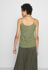 Zign - LINEN MIX - Top - martini olive - 2