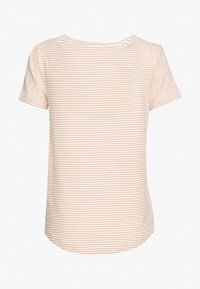 Zign - Print T-shirt - off-white/camel - 1