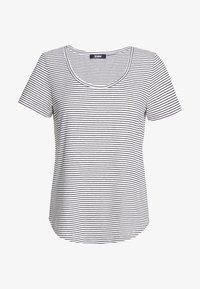 Zign - Print T-shirt - off-white/black - 0
