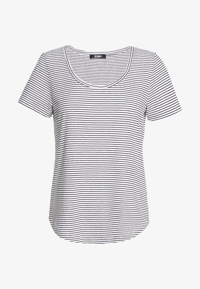 Print T-shirt - off-white/black