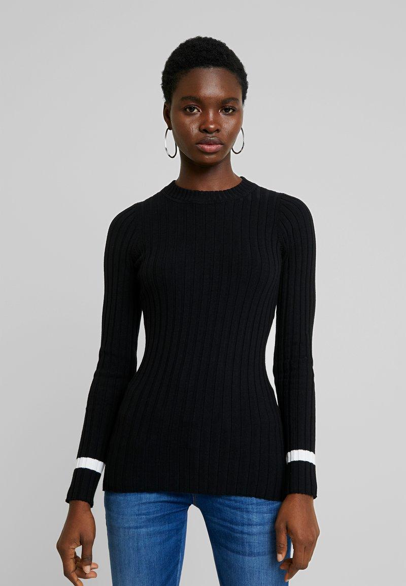 Zign - Stickad tröja - black