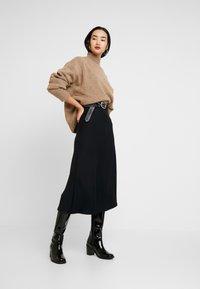 Zign - BASIC - Abito in maglia - black - 1