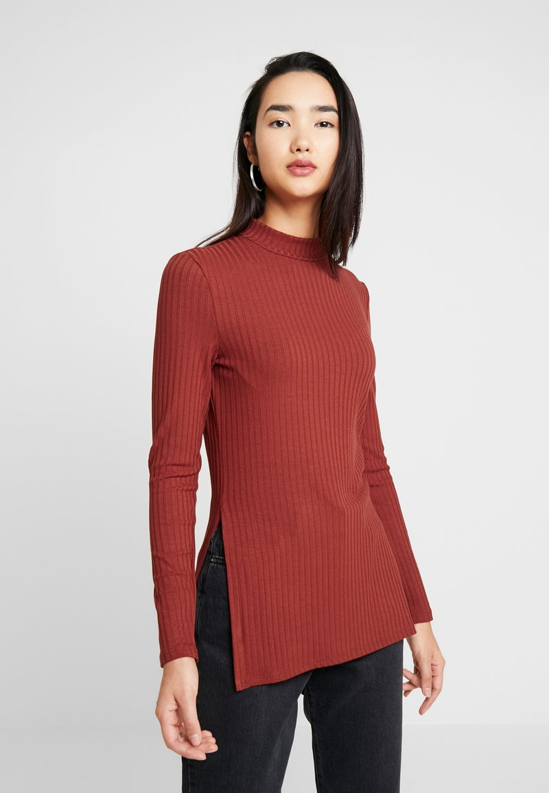 Zign - LANGARMSHIRT BASIC - Long sleeved top - red
