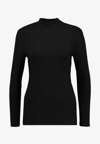 Zign - LANGARMSHIRT BASIC - Long sleeved top - black - 4