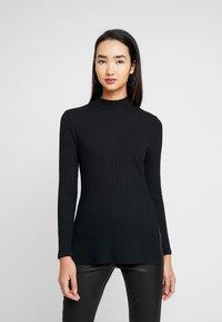 Zign - LANGARMSHIRT BASIC - Long sleeved top - black - 0