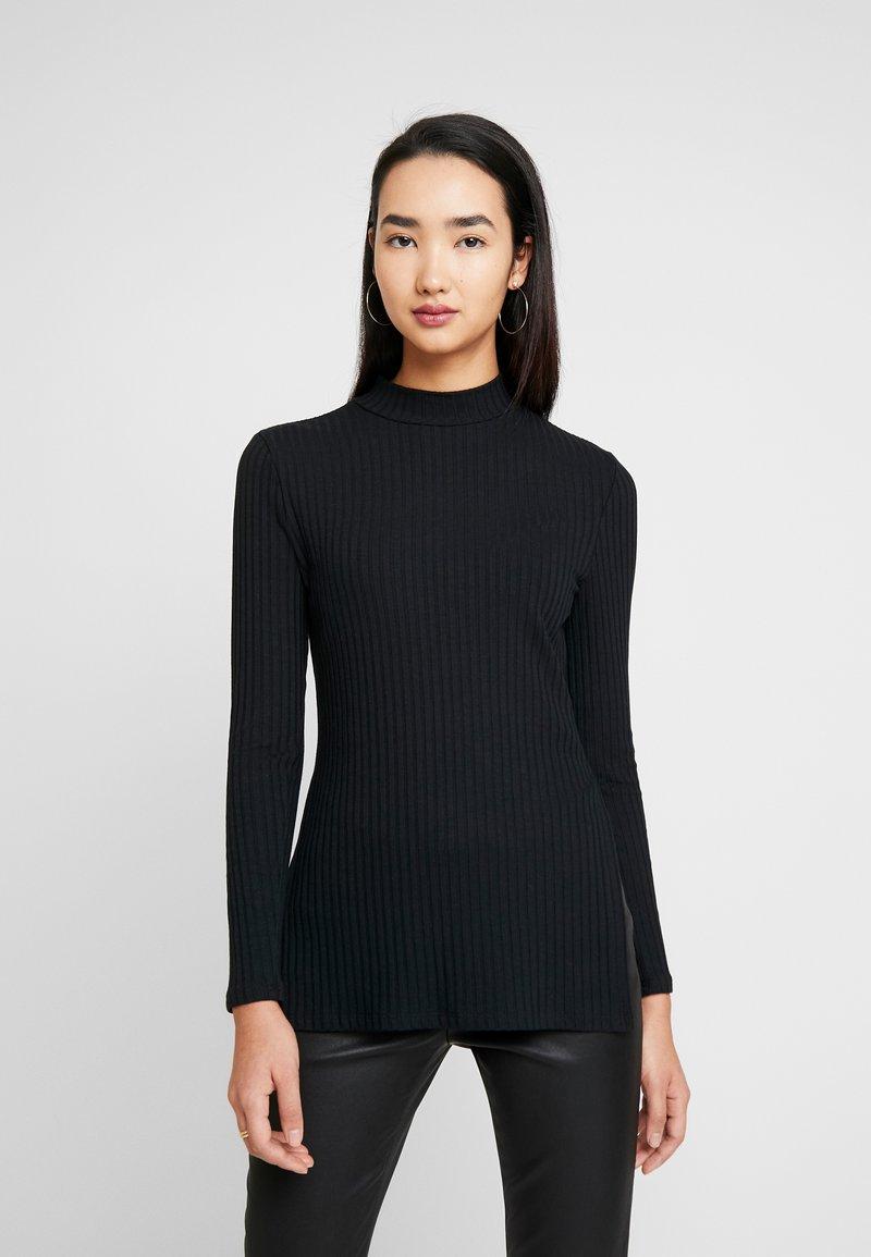 Zign - LANGARMSHIRT BASIC - Pitkähihainen paita - black
