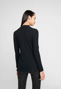 Zign - LANGARMSHIRT BASIC - Long sleeved top - black - 2