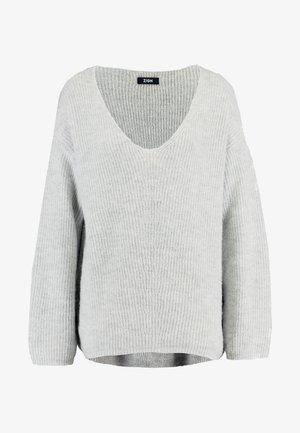FLUFFY - Sweter - light grey melange