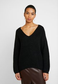 Zign - FLUFFY - Jumper - black - 0