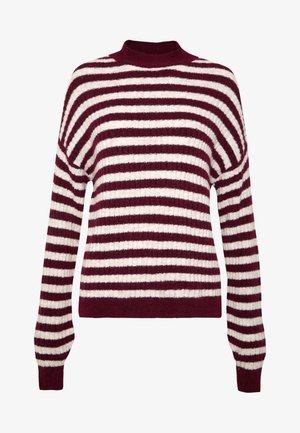 Pullover -  sand/ bordeaux