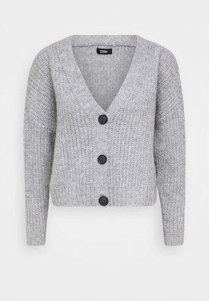 CROPPED  CHUNKY CARDIGAN - Cardigan - mottled light grey