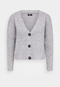 Zign - Cropped chunky cardigan - Cardigan - mottled light grey - 3