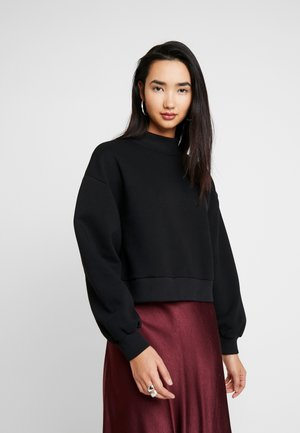 HIGH COLLAR - Sweatshirt - black