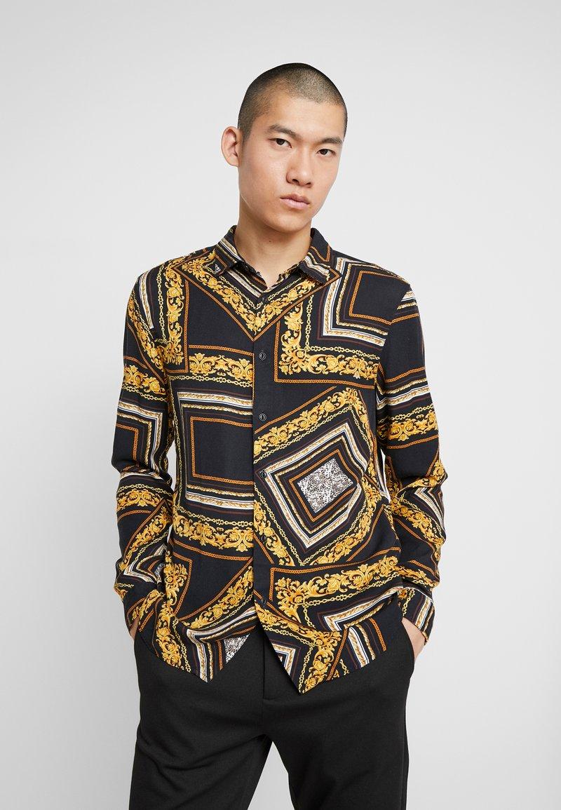 Zign - Overhemd - black/yellow