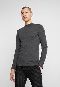 Zign - Langærmede T-shirts - mottled dark grey - 0
