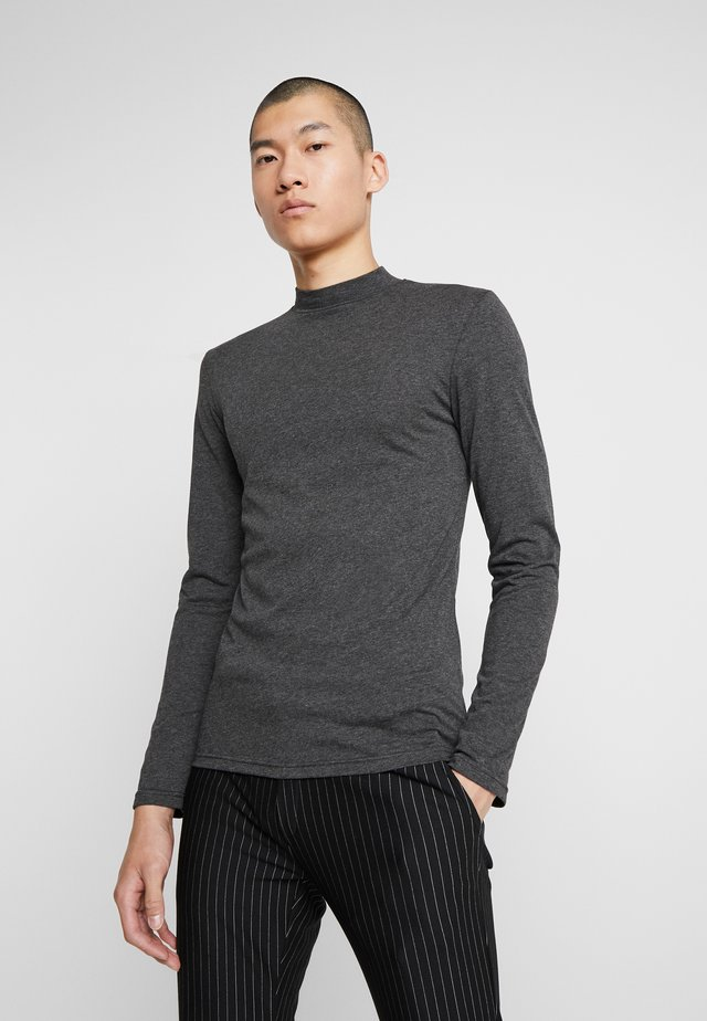 Long sleeved top - mottled dark grey