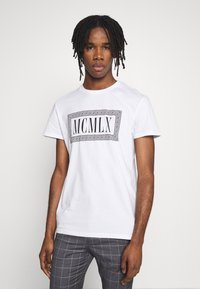Zign - Print T-shirt - white - 0
