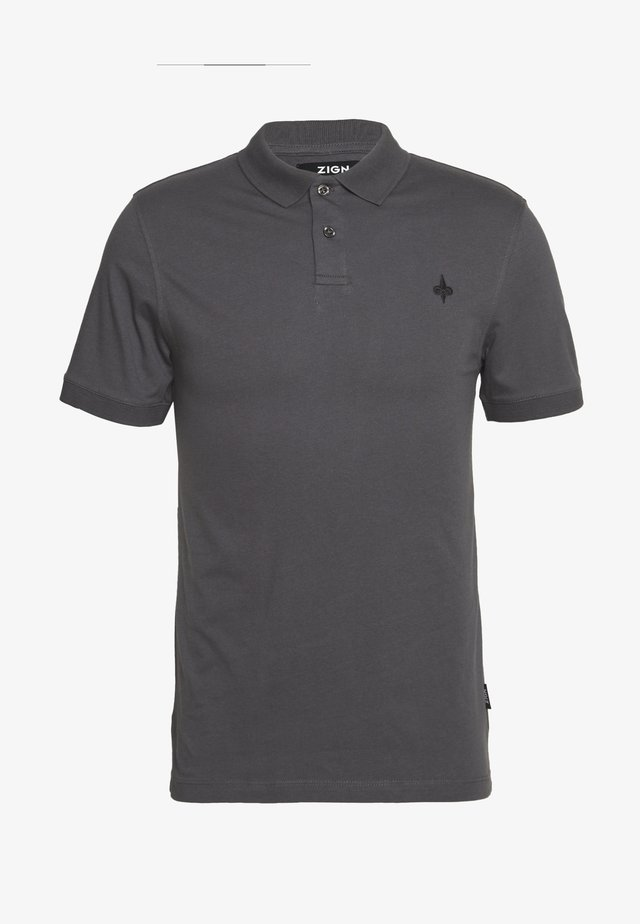 MUSCLE FIT POlO - Polo shirt - dark gray