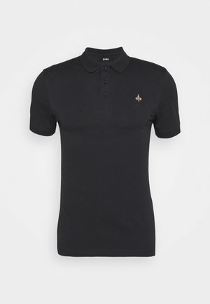 MUSCLE FIT POlO - Polo - black