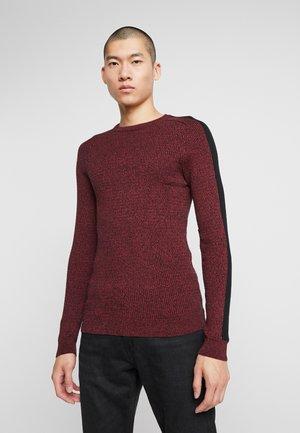 Pullover - mottled bordeaux