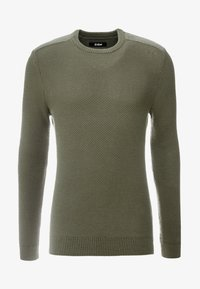 Zign - MUSCLE FIT MILITARY - Jumper - green - 3
